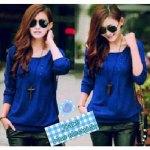joanne-biru-baju-rajut-korea-murah-di-Bandung