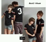 kaos couple best3 hitam