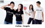 kaos couple celine - harga 85rb