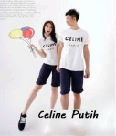 kaos couple celine putih - harga 85rb