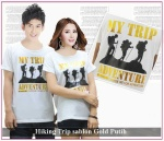 kaos couple Hiking Trip Gold putih