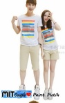kaos couple paint putih2 - harga 85rb
