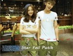 kaos couple star foil putih