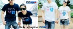 kaos couple tapak kaki couple-harga 85rb