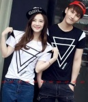kaos couple Triangle harga 85rb